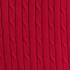 Petites: Kim Rogers Sweaters: Red Rush Kim Rogers Petite Solid Cable Knit Sweater