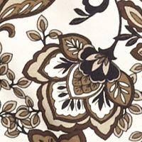 Kim Rogers® Petites Sale: Khaki Combo Kim Rogers Petite Three Quarter Sleeve Floral Crew Neckline Knit Top
