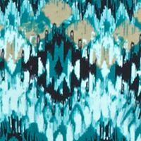 Petite Tee: Turquoise Combo Kim Rogers Petite Native Tribe Top