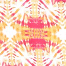 Kim Rogers Petites Sale: Pink/Orange Kim Rogers Petite Tie Dye Burst Print Tee