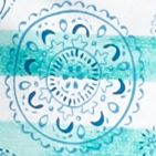 Kim Rogers Petites Sale: Turquoise Combo Kim Rogers Petite Striped Medallion Print Tee