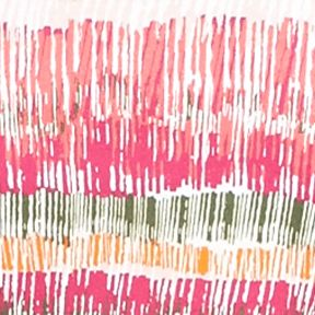 Plus Size Basic Tops: Pink/Orange Kim Rogers Petite Hash Mark Stripe Square Neck Top