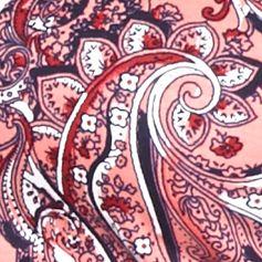 Petite Tops: Knit Tops: Coral Combo Kim Rogers Petite Three-Quarter Paisley Tunic