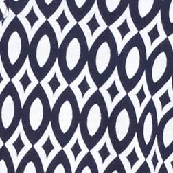 Petite Tops: Knit Tops: Navy/White Kim Rogers Petite Net Geometric Print Henley Top