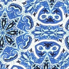 Petite Tops: Knit Tops: Blue Combo Kim Rogers Petite Printed Henley Top