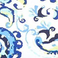 Plus Size Basic Tops: Blue/Lime Kim Rogers Petite Paisley Square Neck Top