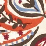 Essentials: Tops & Tees: Rust / Sangria Kim Rogers Petite Three-Quarter Sleeve Square Neck Paisley