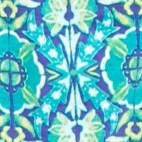 Kim Rogers Petites Sale: Turquoise/Purple Kim Rogers Petite Embroidered Yoke Garden Print Tank