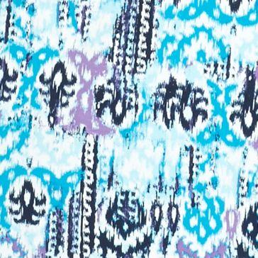 Kim Rogers Petites Sale: Turquoise Combo Kim Rogers Petite Ikat Print Tee