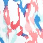 Women's T-shirts: Coral/Aqua Kim Rogers Printed V-Neck Tee