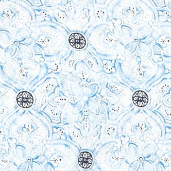 Women's T-shirts: Blue Combo Kim Rogers Medallion Print Tee