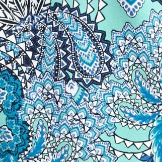 Kim Rogers Women Sale: Aqua/Turq Kim Rogers Tropical Paisley Print Top
