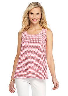 Kim Rogers Texture Stripe Knit Tank