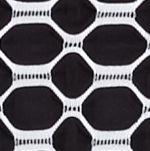 Kim Rogers® Women Sale: Black/White Kim Rogers Square Neck Printed Jacquard Top