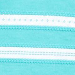 Knit Tops for Women: Turq/White Kim Rogers Three Quarter Rib Striped Top
