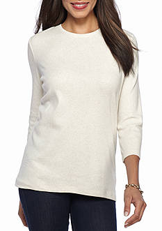 Kim Rogers Ribbed Crew Knit Top
