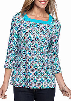 Kim Rogers Square Neck Moscow Medallion Top
