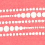 Kim Rogers Women Sale: Coral/Ivory Kim Rogers Three Quarter Sleeve Sweetheart Neck Stripe Top