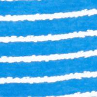 Kim Rogers Women Sale: Blue/White Kim Rogers Three Quarter Sleeve Crew Neck Stripe Knit Top