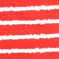 Kim Rogers Women Sale: Red/White Kim Rogers Three Quarter Sleeve Crew Neck Stripe Knit Top