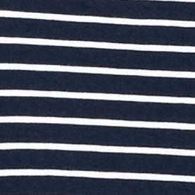 Kim Rogers Women Sale: Navy/White Kim Rogers Three Quarter Sleeve V-Neck Stripe Top