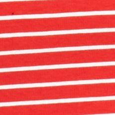 Kim Rogers Women Sale: Red/White Kim Rogers Three Quarter Sleeve V-Neck Stripe Top