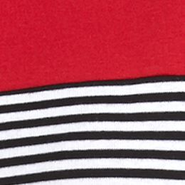 Kim Rogers Women Sale: Red/White/Black Kim Rogers Three Quarter Sleeve Striped Shirt