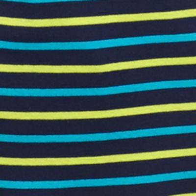 Kim Rogers Women Sale: Blue Kim Rogers 3/4 Ribbed Striped Top