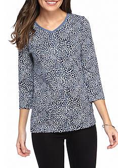 Kim Rogers Animal Print Shirt