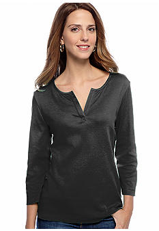 Kim Rogers® Splitneck Top