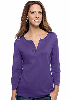 Kim Rogers Splitneck Top