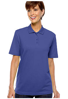 Kim Rogers Short Sleeve Solid Pique Polo