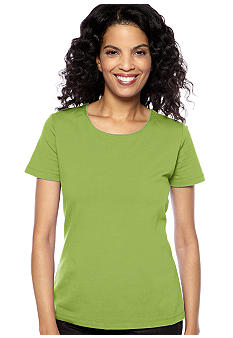 Kim Rogers Jewel Neck Solid Tee