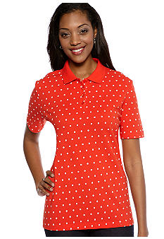 Kim Rogers Short Sleeve Polka Dot Polo