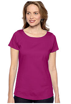 Kim Rogers Solid Marilyn Neck Tee