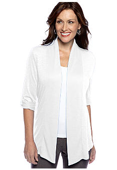 Kim Rogers Roll Sleeve Cozy Cardigan