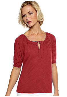 Kim Rogers Pin Tuck Raglan Top