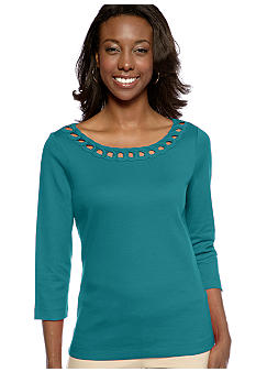 Kim Rogers Soutache Trim Top