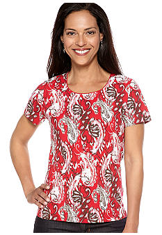 Kim Rogers Scoop Neck Paisley Tee