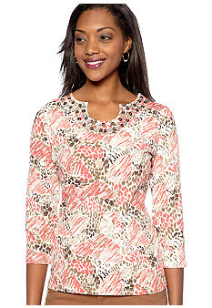 Kim Rogers Embellished U-Neck Top