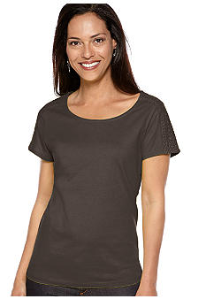 Kim Rogers Shoulder Lace Tee