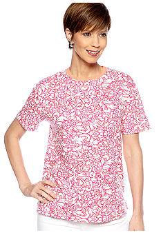 Kim Rogers Short Sleeve Interlock Crew Neck