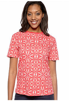Kim Rogers Short Sleeve Interlock Crew Neck Tee