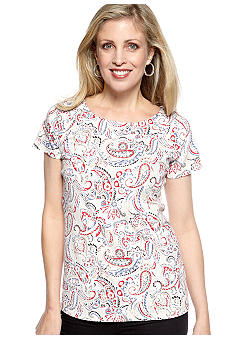 Kim Rogers Short Sleeve Marylin Paisley Tee