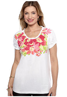 Kim Rogers Short Sleeve Peasant Top