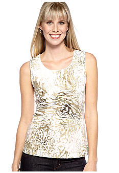 Kim Rogers Sleeveless Jewel Neck Tank