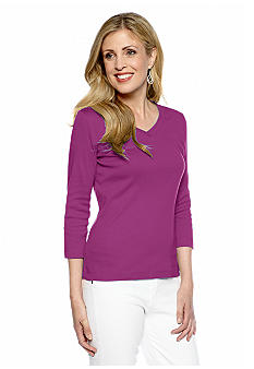 Kim Rogers Three Quarter Sleeve Knit Top