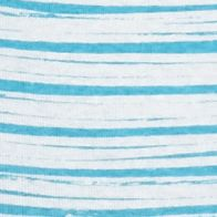 Layering Tees for Women: Aqua / White Kim Rogers Rib V Neck Stripe Tee