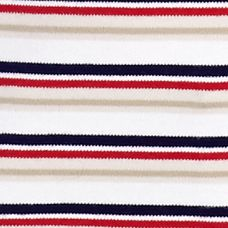 Layering Tees for Women: Red / Navy Combo Kim Rogers Stripe Knit Tee