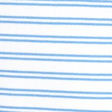 Layering Tees for Women: Blue Sail Kim Rogers V-Neckline Stripe Knit Tee